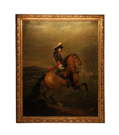 Equestrian Portrait of King Louis XIV, Victorious after the Siege of Mons