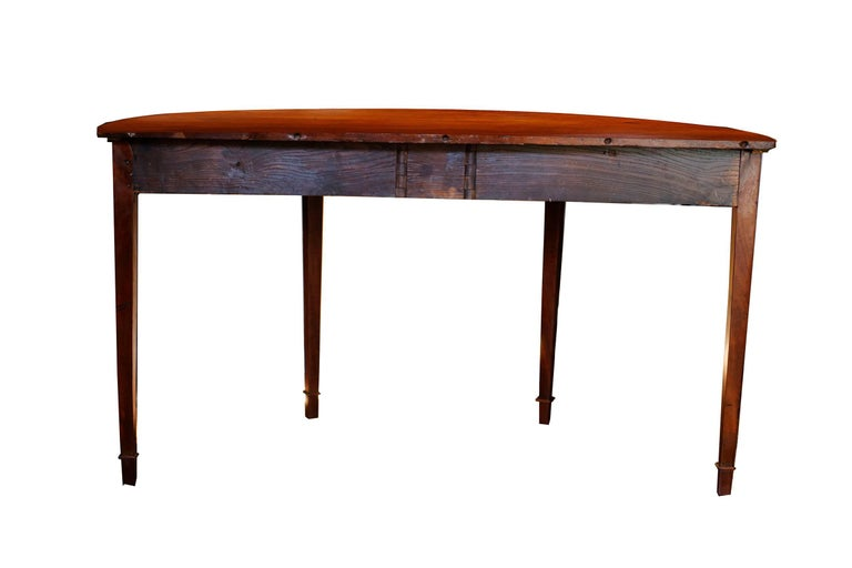 Pine Pair of Late 18th Century Hepplewhite Mahogany Demilune Tables For Sale