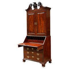 18th Century George II Mahogany Secretary Bookcase