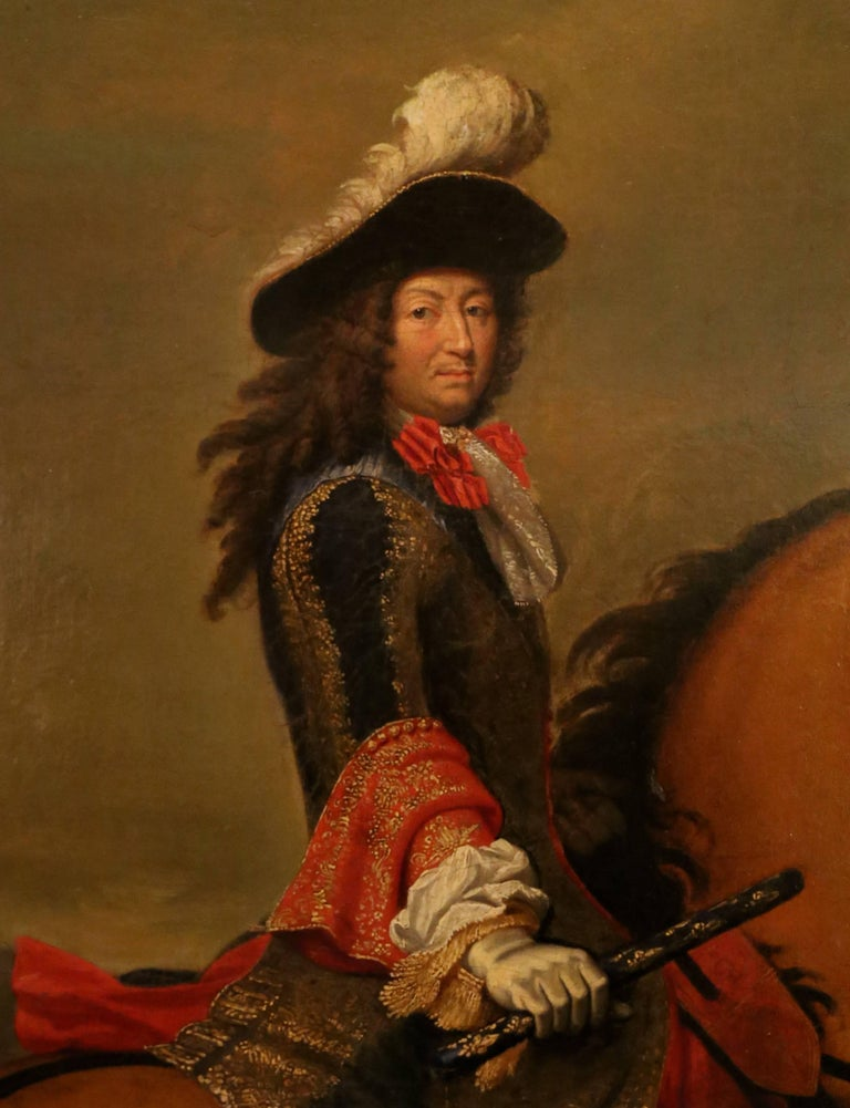 Equestrian Portrait Of King Louis XIV, Victorious After