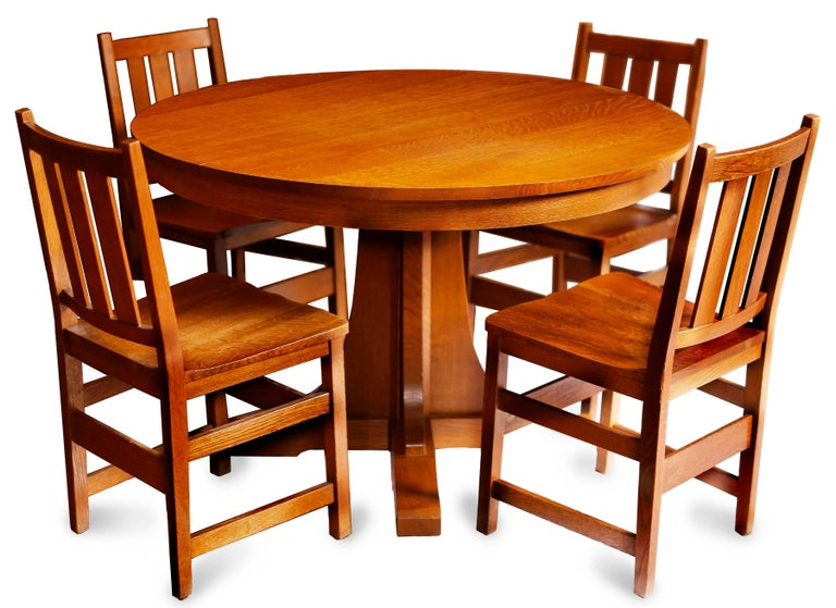 Andy Warhol S 6 Stickley Chairs From The Factory And Contemporary Table