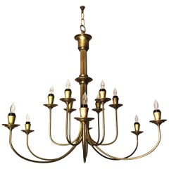 Late 20th Century Brass Solar System Ceiling Light For Sale