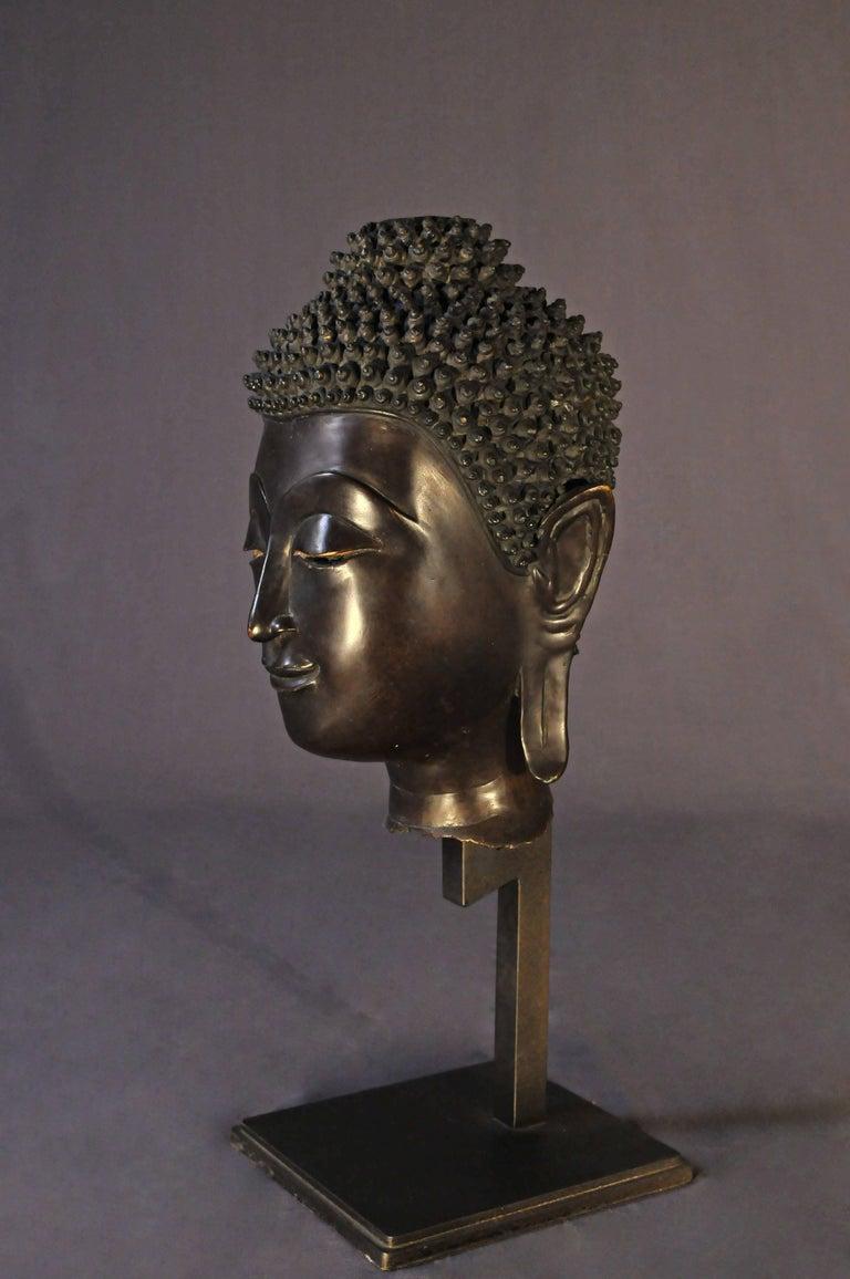 Other Late 17th Century, Bronze Buddha Head, Ayutthaya Kingdom, Art of Thailand For Sale