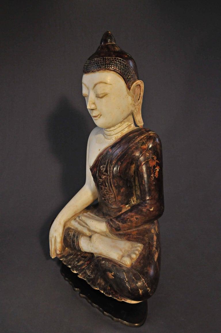 Other 18th Century, Virasana Buddhain Bhumisparsa Mudra, Mandalay Period, Burma For Sale