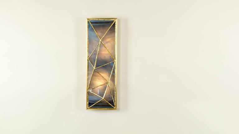 Gem_Gold, Contemporary Wall Sconce in Glass and Brass by Kalin Asenov For Sale 1