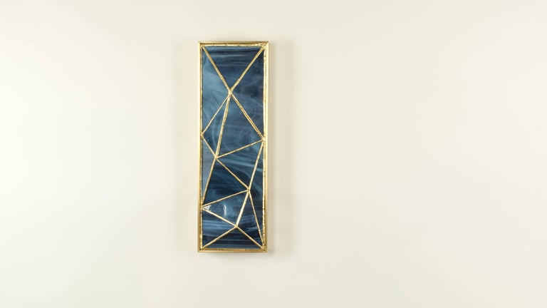 Gem_Gold, Contemporary Wall Sconce in Glass and Brass by Kalin Asenov For Sale 2