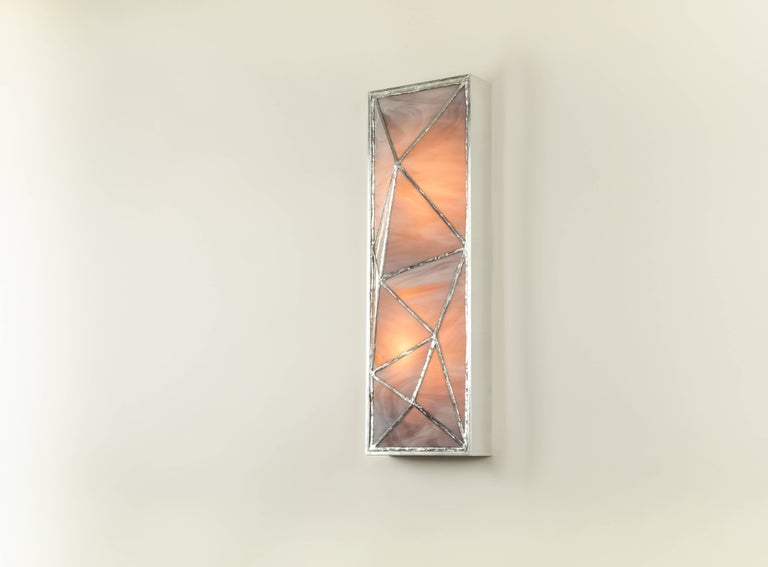 Gem_Gold, Contemporary Wall Sconce in Glass and Brass by Kalin Asenov For Sale 5