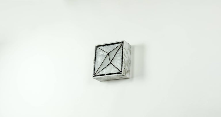 Gem_Stone V.3, Contemporary Wall Sconce in Glass and Marble by Kalin Asenov For Sale 3