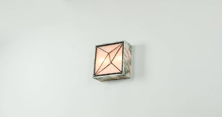 Gem_Stone V.3, Contemporary Wall Sconce in Glass and Marble by Kalin Asenov For Sale 4