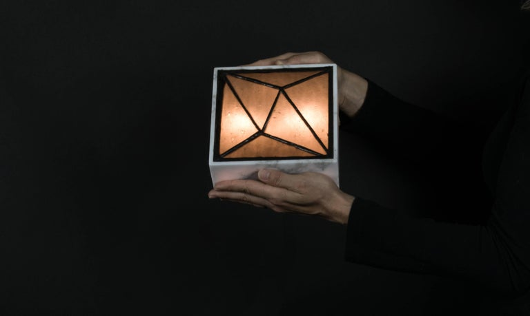 Gem_Stone V.3, Contemporary Wall Sconce in Glass and Marble by Kalin Asenov For Sale 5