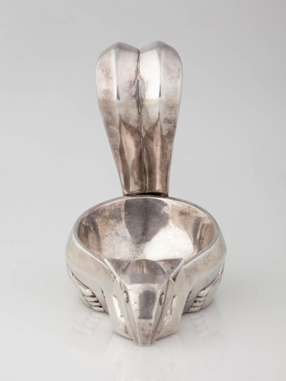 French Art Deco Squirrel Nut Dish by Christofle