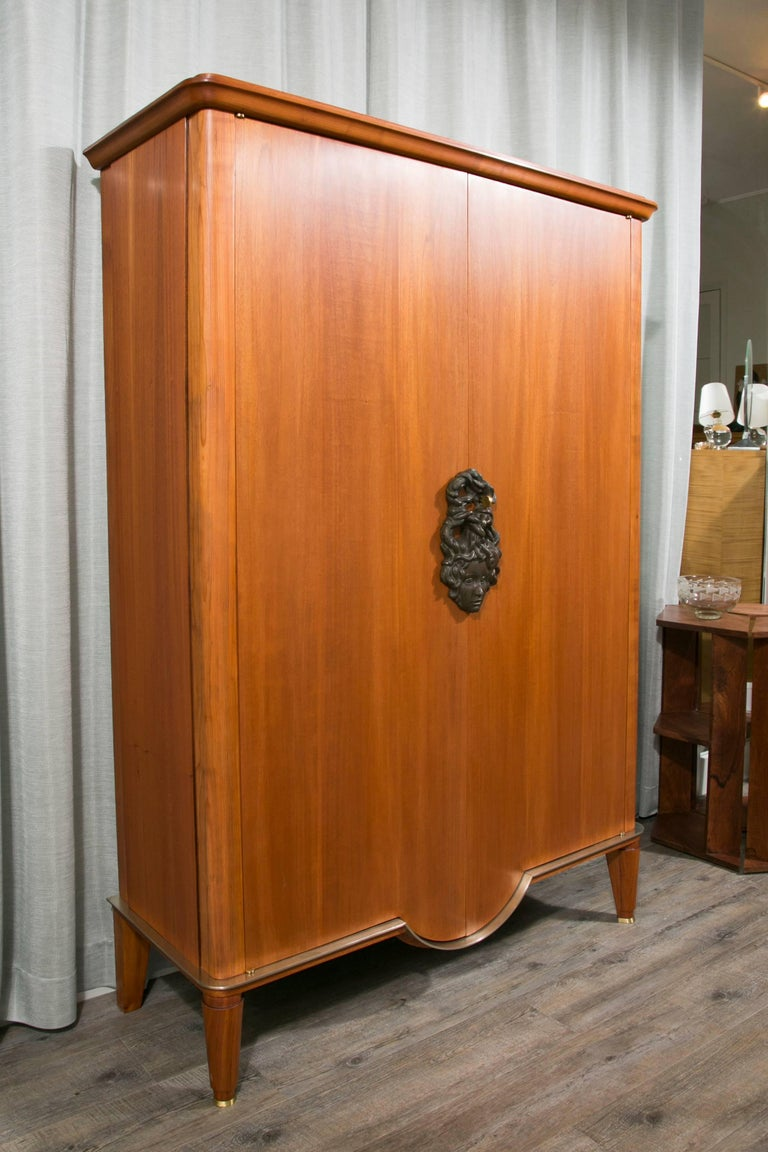 art deco armoire by andre arbus and vadim androusov for sale at 1stdibs. Black Bedroom Furniture Sets. Home Design Ideas