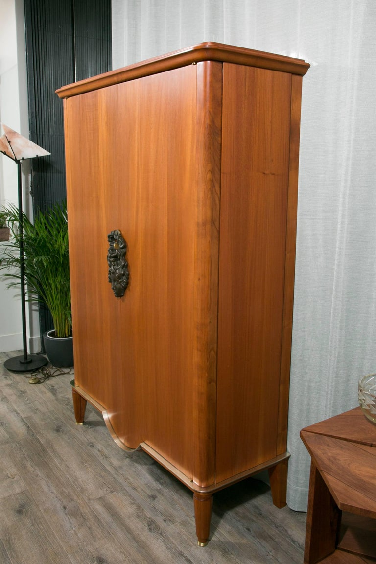 Mid-20th Century Art Deco Armoire by Andre Arbus and Vadim Androusov For Sale