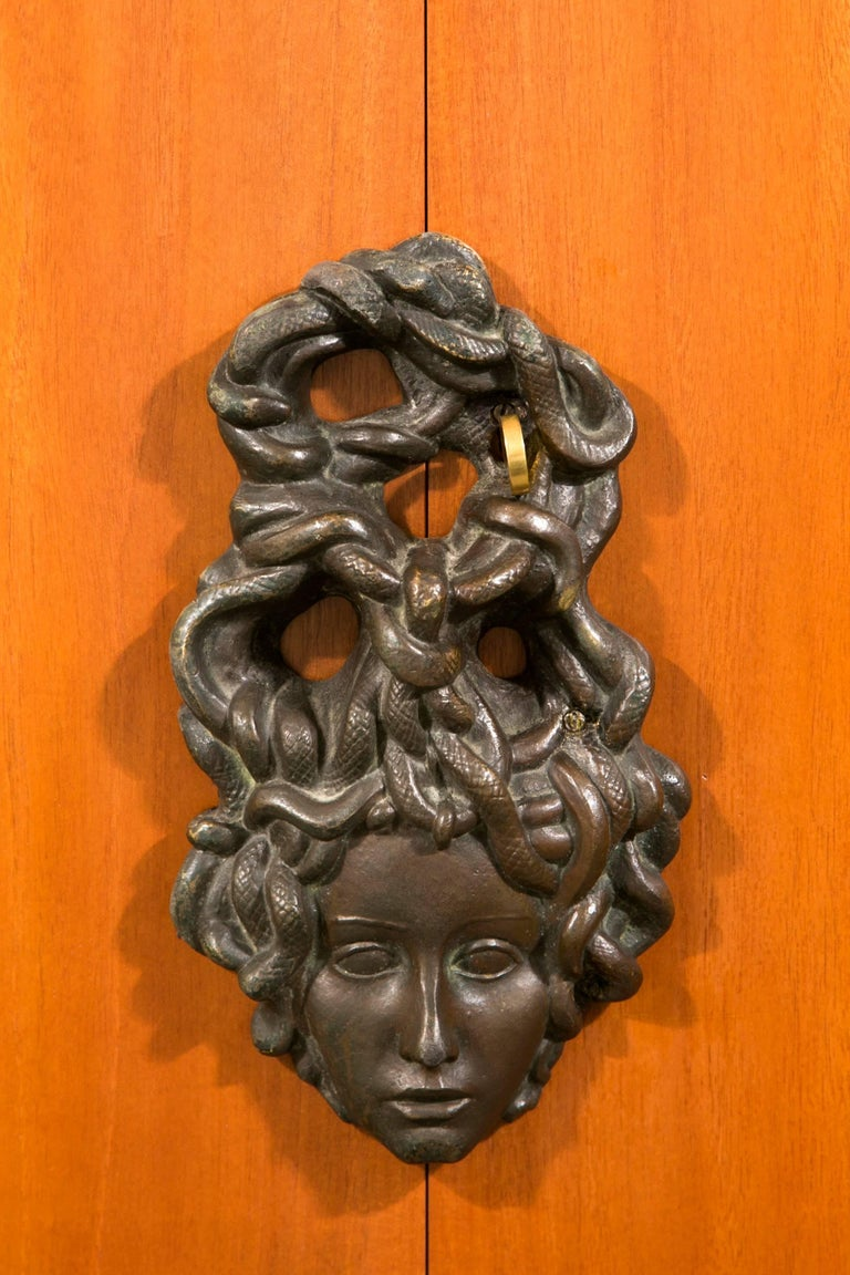 Bronze Art Deco Armoire by Andre Arbus and Vadim Androusov For Sale