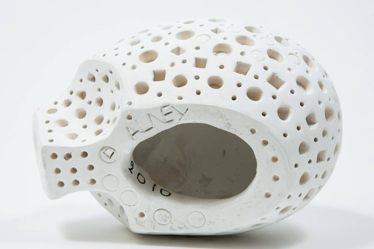 Contemporary White Terracotta Sculpture by Alexandre Ney   For Sale