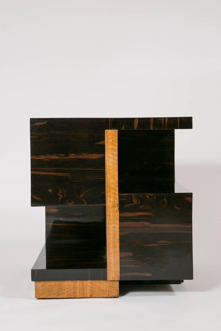 Important side table by genius famous French designer Jacques Adnet (1900-1981) The similar model was exhibited during the Parisian