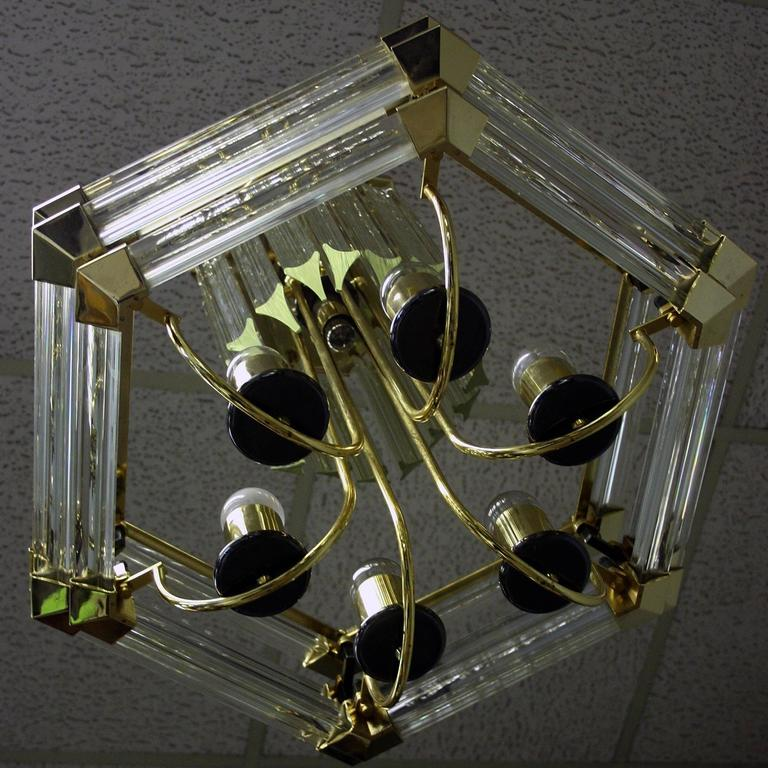 Late 20th Century Bakalowits And Sohne Brass And Crystal