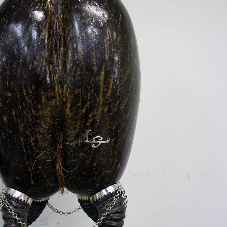 English Coco De Mer Sculpture by Glyn Lockett For Sale