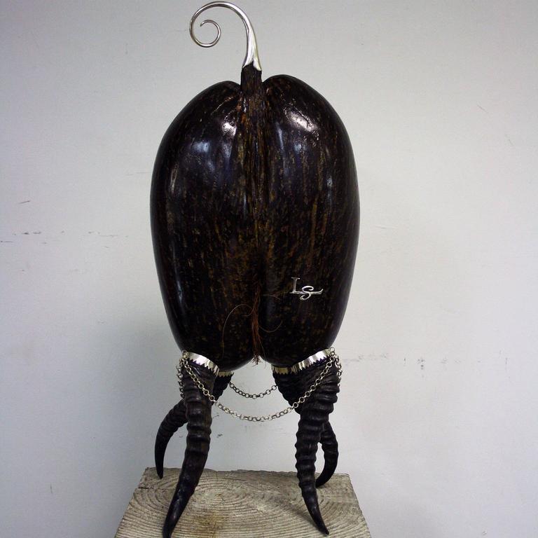 Coco De Mer Sculpture by Glyn Lockett For Sale 1
