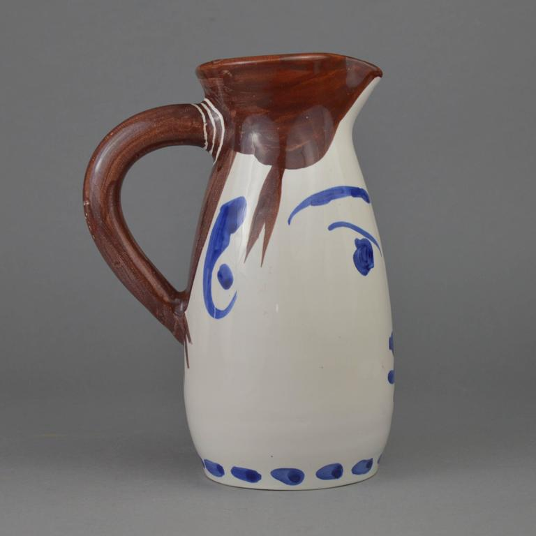 Pablo Picasso Madoura Ceramic Turned Pitcher Face Tankard