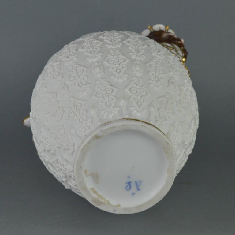 Rare Collectible Porcelain Pitcher, Paris Manufacturer Jacob Petit, 19th Century For Sale 3
