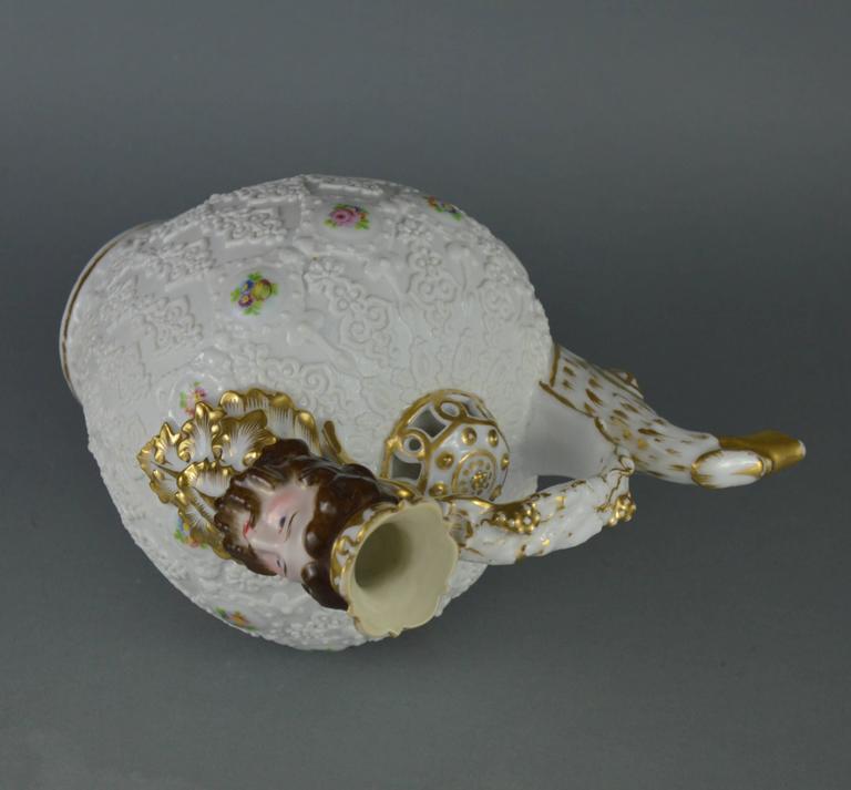 Rare Collectible Porcelain Pitcher, Paris Manufacturer Jacob Petit, 19th Century For Sale 1