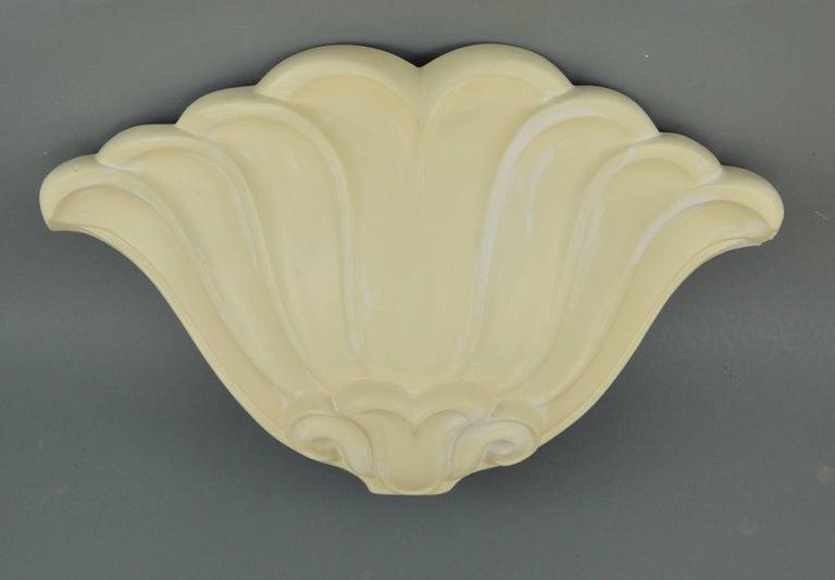 Plaster Cast Wall Lights : Set of Four Belgian Art Deco Plaster Cast Wall Lights For Sale at 1stdibs