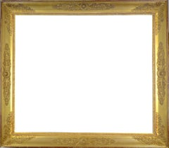 Antique French Empire Early 19th Century Gold Leaf Gilt Frame