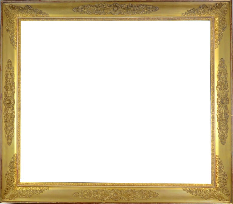 Antique French Empire Early 19th Century Gold Leaf Gilt Frame at 1stdibs