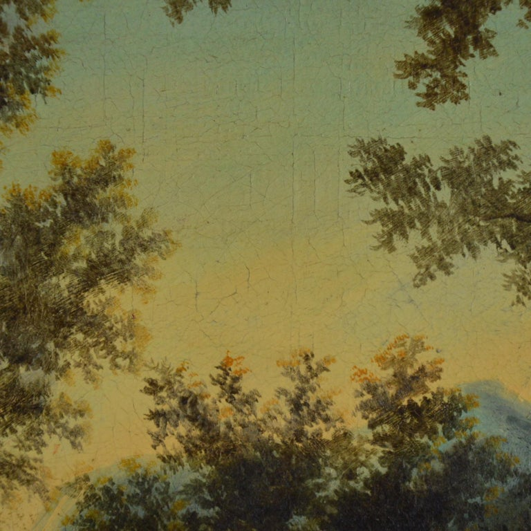 Landscape with Figures Painting Flemish School, 18th Century For Sale 3