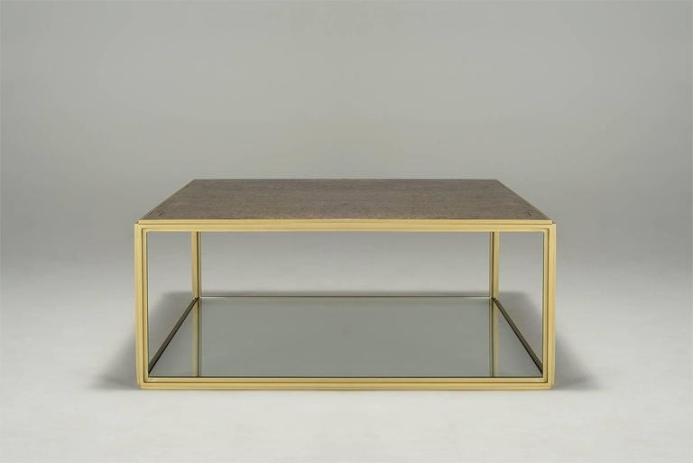 Cubist Bronze and Brass Occasional Square Table, PT6 Model, by P  Tendercool