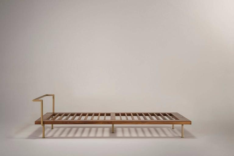 Sigmund Daybed in Solid Brass Frame Available in our Gallery, by P. Tendercool 2