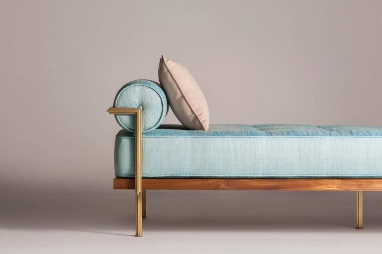 Sigmund Daybed in Solid Brass Frame Available in our Gallery, by P. Tendercool 3