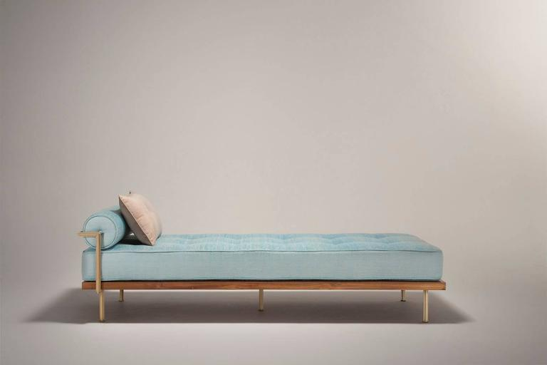 Sigmund Daybed in Solid Brass Frame Available in our Gallery, by P. Tendercool 9