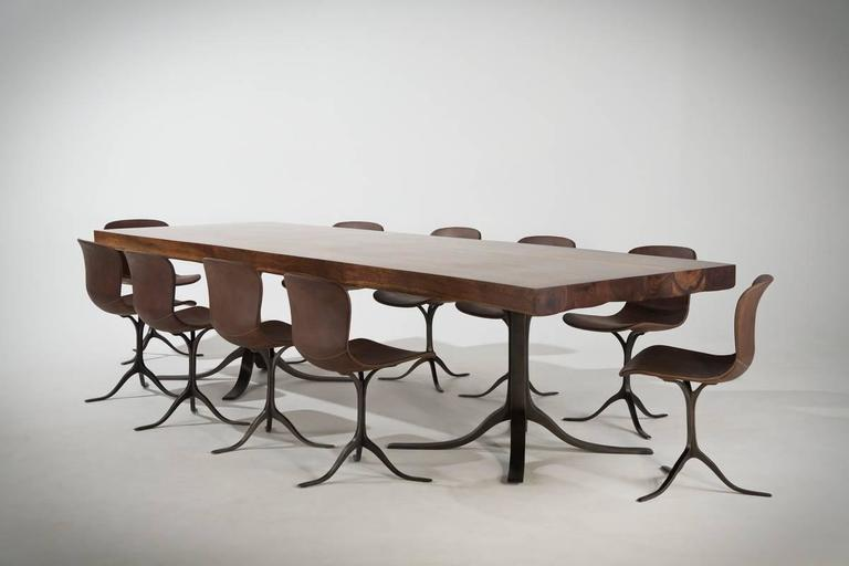 Ten Top Dining Table Reclaimed Wood and Brass Matching  : PTendercoolFTOPPT16BS3MTNOPT400021l from www.1stdibs.com size 768 x 512 jpeg 28kB