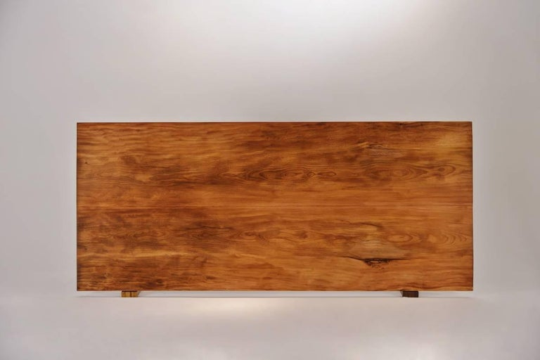 Made to order We created this table for a gentleman in London, he was referred to us by the nearby Mandarin Oriental and was so impressed by our gallery and workshop that he couldn't resist... He chose 2 slabs of rare Antique Hardwood from our