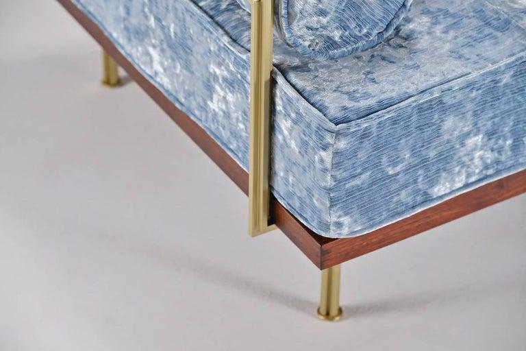 Bespoke Two-Seat Sofa in Modelli Fabrics, Fantasia-Blue Lagoon by P.Tendercool 3