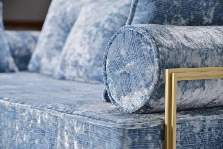 Bespoke Two-Seat Sofa in Modelli Fabrics, Fantasia-Blue Lagoon by P.Tendercool 4