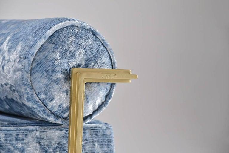 Bespoke Two-Seat Sofa in Modelli Fabrics, Fantasia-Blue Lagoon by P.Tendercool 6