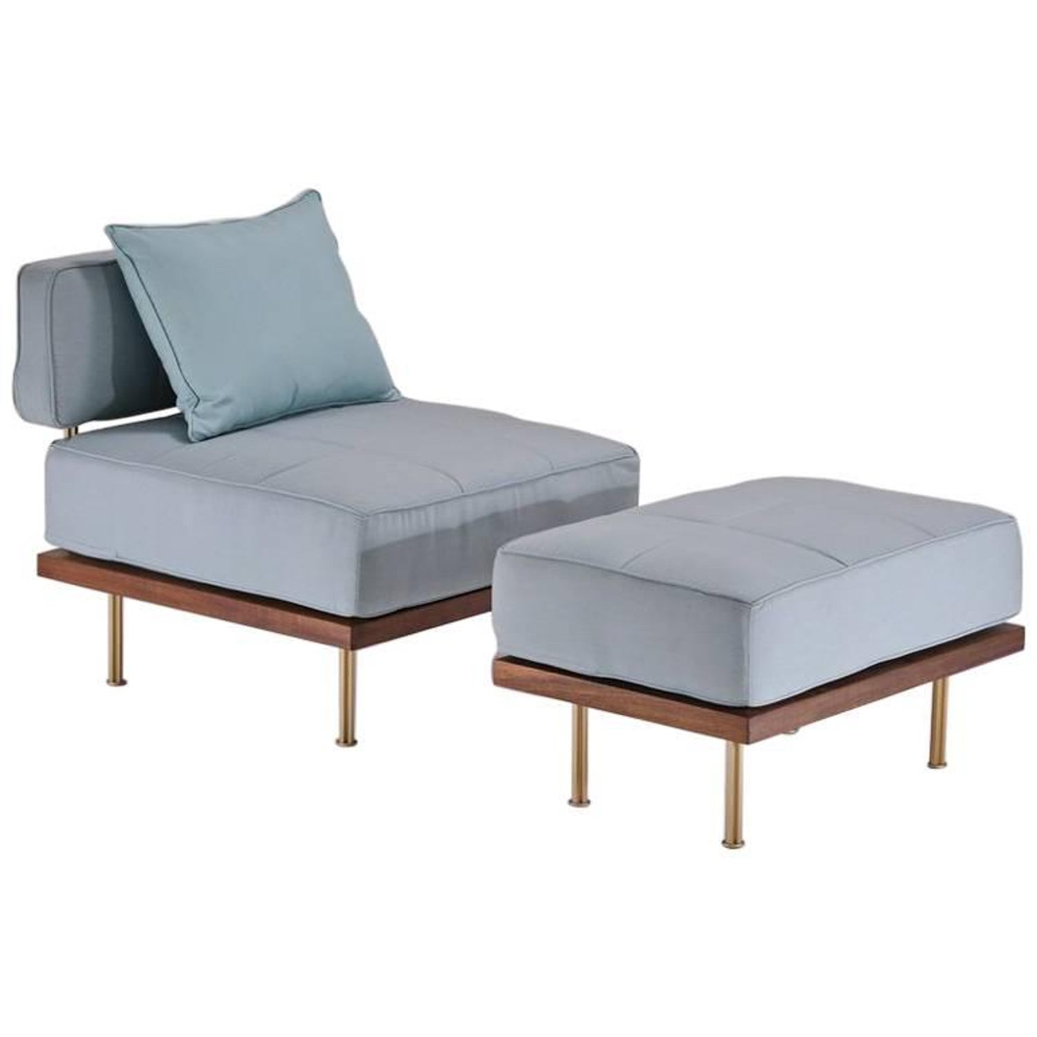 Bespoke Outdoor Lounge Chair And Ottoman Reclaimed Hardwood By P Tendercool For At 1stdibs