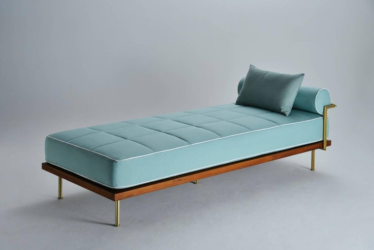 Bespoke Outdoor Daybed with Solid Brass Frame by P. Tendercool In New Condition For Sale In Bangkok, TH