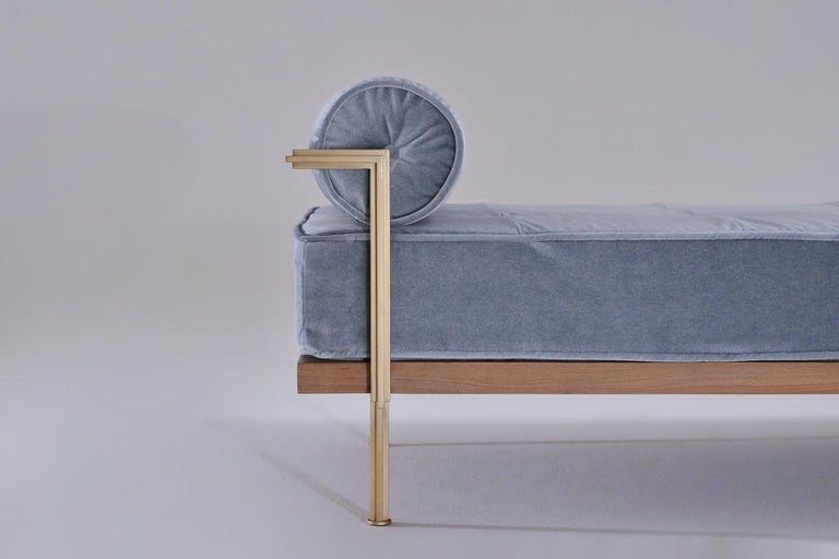 Bespoke Double Daybed in Reclaimed Hardwood and Solid Brass Frame, P.Tendercool In New Condition For Sale In Bangkok, TH