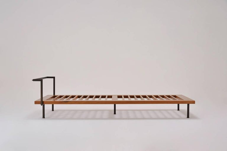 Bespoke Daybed, Reclaimed Hardwood and Blackend Brass Frames In New Condition For Sale In Bangkok, TH