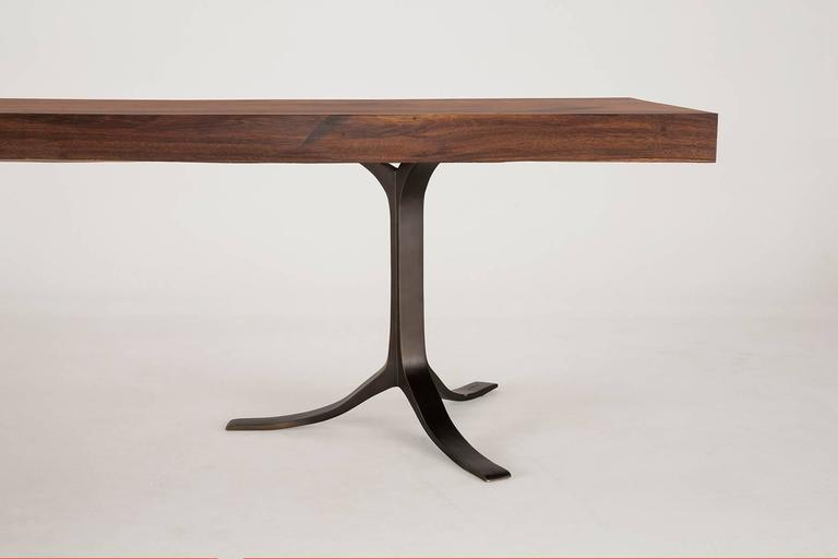 Ten-Seat Bespoke Reclaimed Hardwood Table, on Solid Brass Base by P.Tendercool 10
