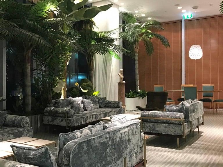 Bespoke Two-Seat Sofa in Modelli Fabrics, Fantasia-Blue Lagoon by P.Tendercool 9
