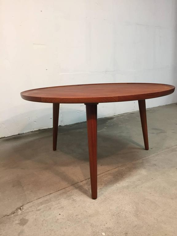 Mid-20th Century 1960s Danish Mid-Century Coffee Table in Teak For Sale