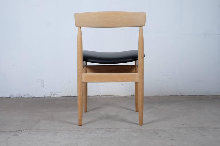 Beautiful Set Of Four Dining Chairs In Solid Oak Danish