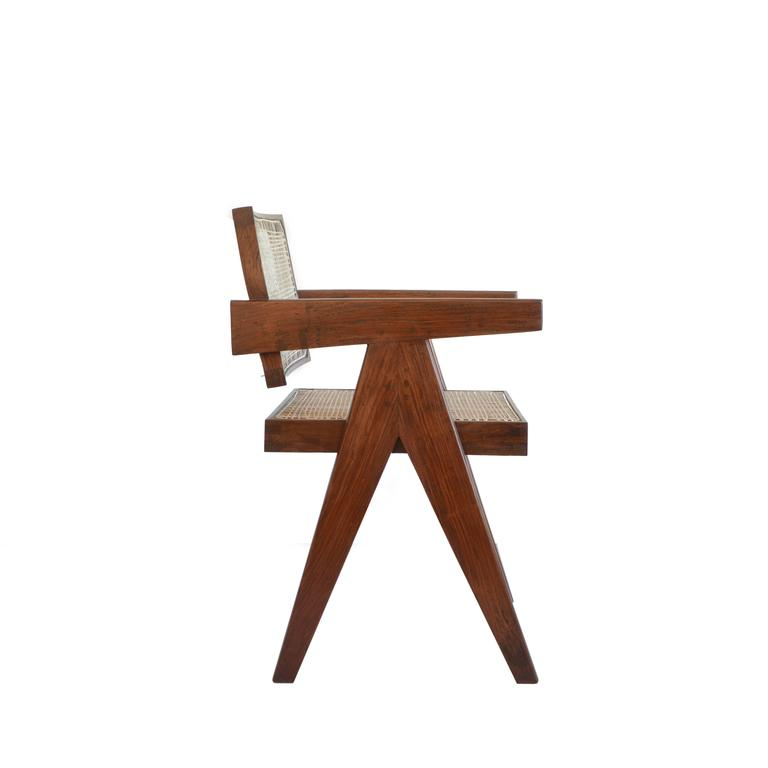 Pierre Jeanneret Office Cane Chair PJ-SI-28-A from Chandigarh For Sale