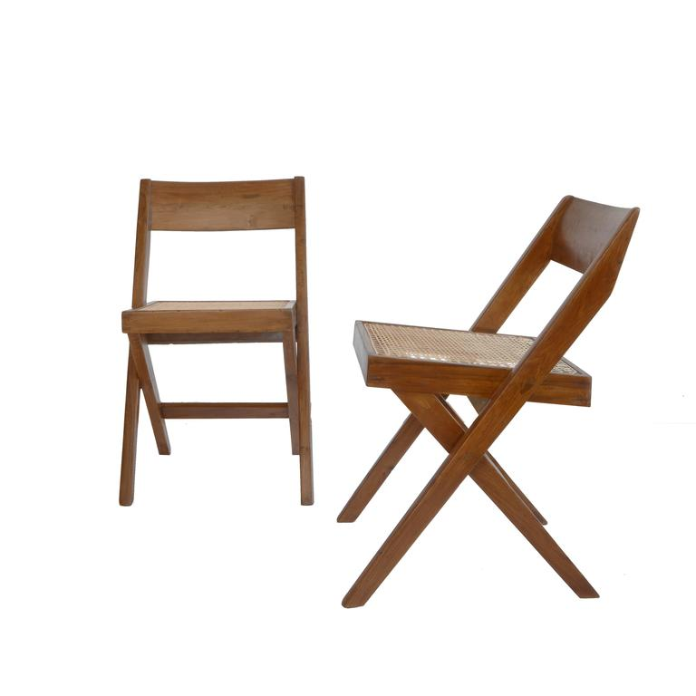 Pierre Jeanneret Library Chair from Chandigarh PJ-SI-51-A For Sale