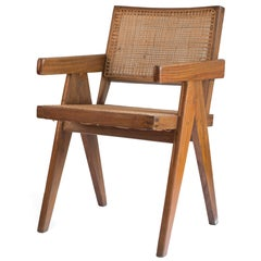 Pierre Jeanneret Office Cane Chair for Chandigarh